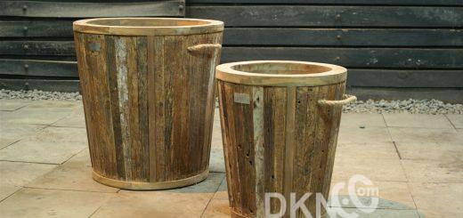 recycled teak planter