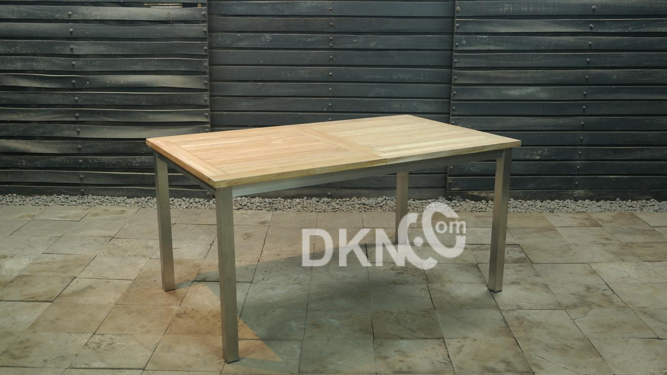 rectangular extension table stainless