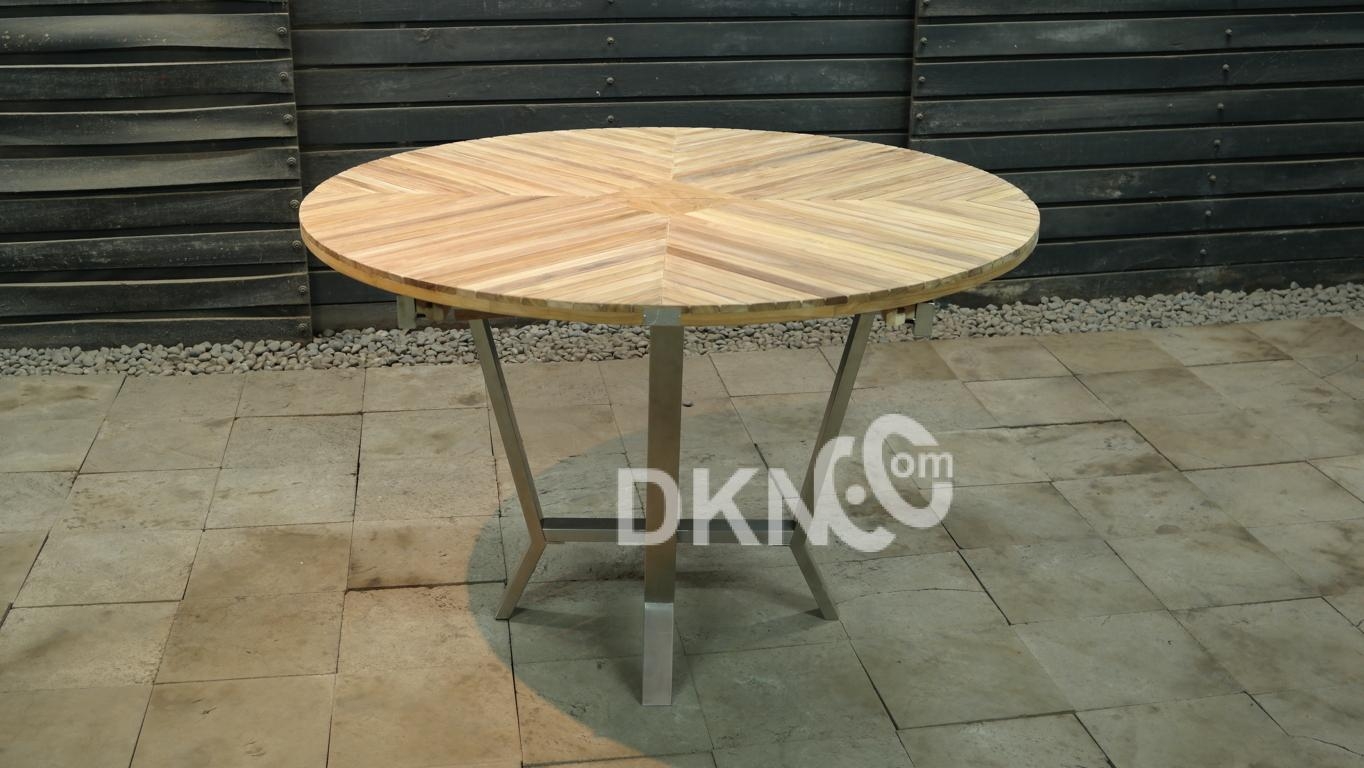 round extension table stainless